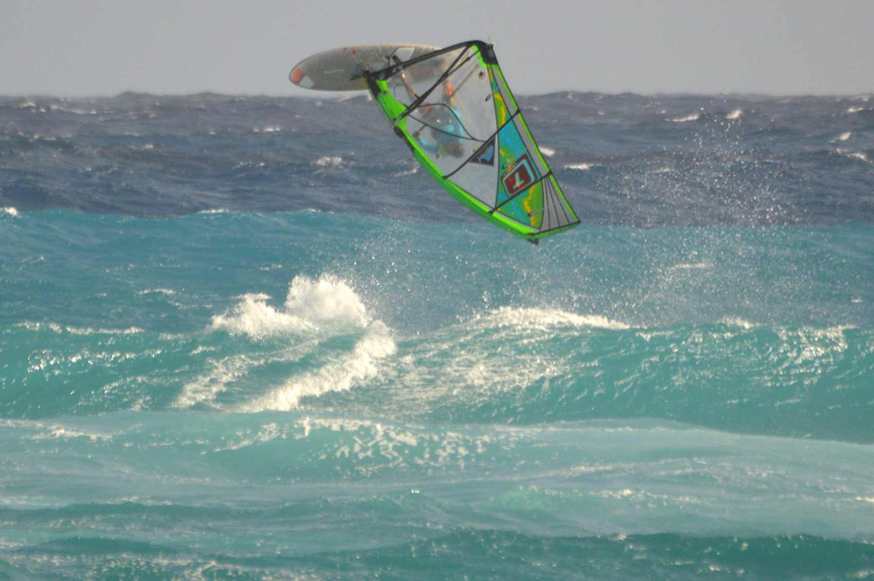 Windsurfing in Silver Sands - Barbados