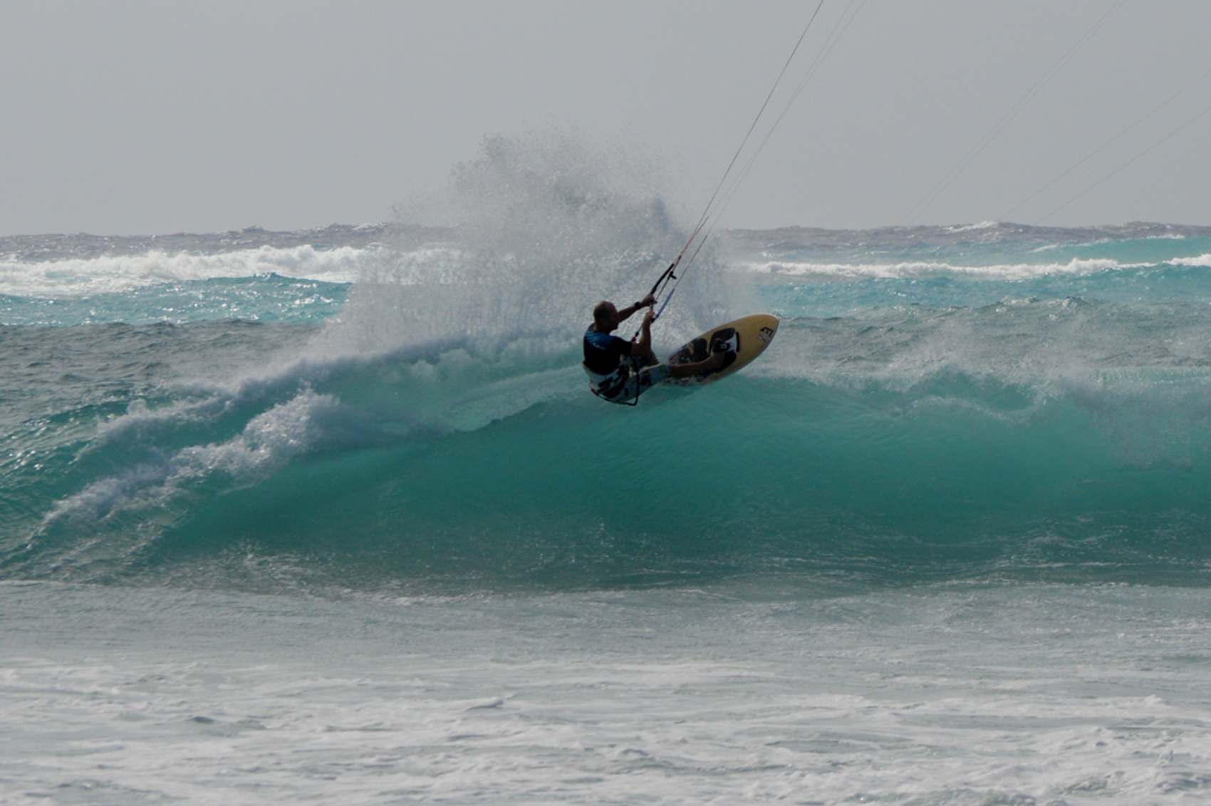 Kitesurfing at Secret Spot - Barbados