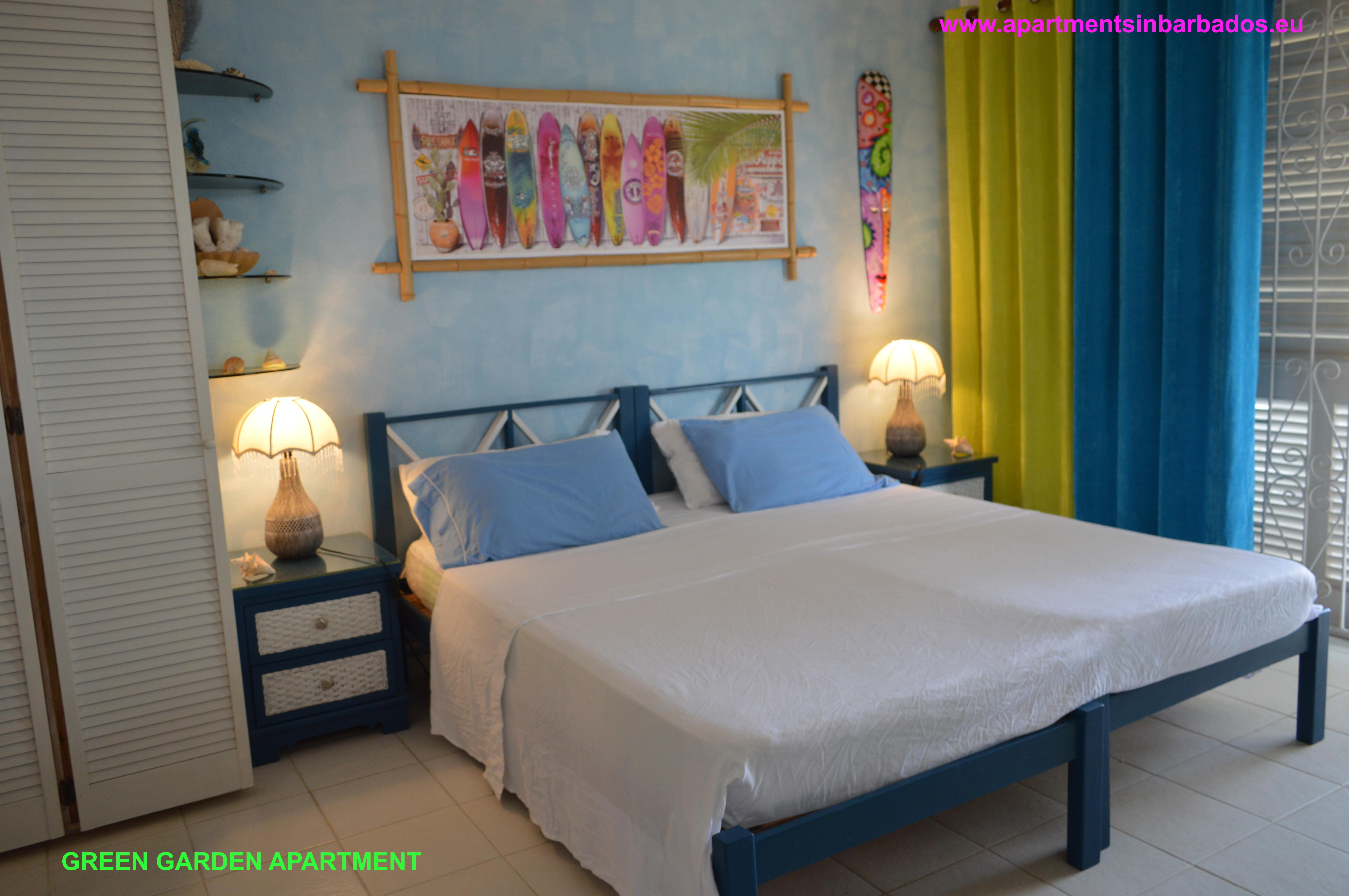 Green Garden Apartment - Bedroom